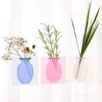 Sticky Wall Magic Silicone Flower Vase