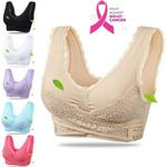 ONFLEEK - Seamless Lift Bra with Front Cross Side Buckle, Plus-Size Wirefree Lift Support Bra