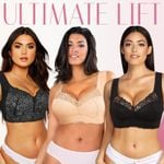 FLEEKCOMFY™ Ultimate Lift Stretch Full-Figure Seamless Lace Cut-Out Bra