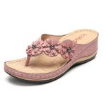OncloudCare Flower Clip Toe Beach Sandals
