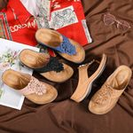FleekComfy™ Premium Orthopedic Wedge Flower Clip Toe Sandals
