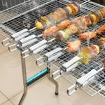 Stainless BBQ Movable Handle Skewers