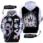 Hologram alien weed 3D All Over Printed Shirt, Sweatshirt, Hoodie, Bomber Jacket Size S - 5XL