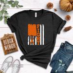 Leukemia Cancer Fight Flag  Graphic Unisex T Shirt, Sweatshirt, Hoodie Size S - 5XL