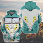 Hippie van 3D All Over Printed Shirt, Sweatshirt, Hoodie, Bomber Jacket Size S - 5XL