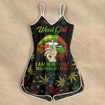 Weed Girl Rasta Color Rompers For Women