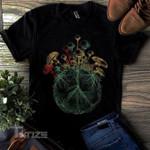 Mushroom peace Graphic Unisex T Shirt, Sweatshirt, Hoodie Size S - 5XL