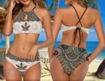 Weed Mandala Pattern 2-piece Bikini