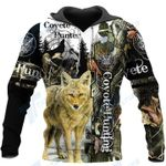 Coyete Hunting 3D All Over Printed Shirt, Sweatshirt, Hoodie, Bomber Jacket Size S - 5XL