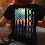 Hunting Deer Hunting US Flag Graphic Unisex T Shirt, Sweatshirt, Hoodie Size S - 5XL