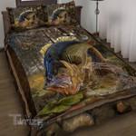 Fishing Huge Hunting Bass  Quilt Bedding Set