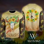 Hippie Sunflower 3D All Over Printed Shirt, Sweatshirt, Hoodie, Bomber Jacket Size S - 5XL