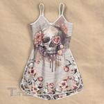 Skull flower pattern Rompers For Women