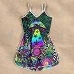 Weed mushroom psychedelic color Rompers For Women