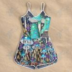 Mushroom pattern psychedelic color Rompers For Women