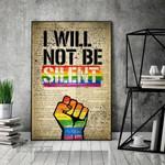 LGBT I Will Not Be Silent LGBT Power Fist Wall Art Print Poster