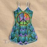 Hippie peace flower Rompers For Women