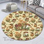 Mushrooms Color Patterns Premium Round Rug