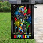 It's Ok To Be Different Flower Puzzle  Awareness Garden Flag, House Flag
