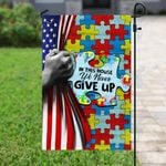 Puzzle In This House We Never Give Up Garden Flag, House Flag