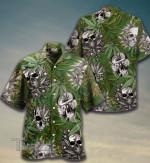 Weed Smoking Weed Skulls Hawaiian Shirt