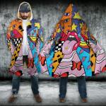 LSD lip take a trip Hooded Cloak Coat