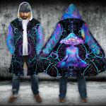 Psychedelic Yoga Magic Mushroom Hooded Cloak Coat