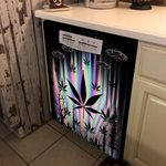 Weed Alien Hologram Dishwasher Cover