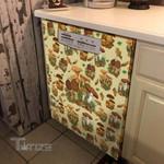 Mushrooms Mushies Pattern Dishwasher Cover