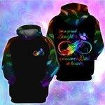I'm a proud daughter of wonderful dad in heaven 3D All Over Printed Shirt, Sweatshirt, Hoodie, Bomber Jacket Size S - 5XL