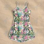 Weed leaf colorful pattern Rompers For Women