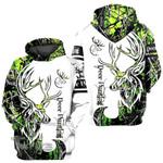 Hunting Green Deer, Deer Hunting 3D All Over Printed Shirt, Sweatshirt, Hoodie, Bomber Jacket Size S - 5XL