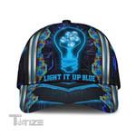 Autism Puzzle Light It Up Blue Classic Cap