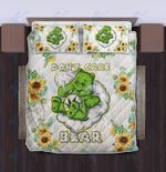 Weed don't care bear sunflower Quilt Bedding Set