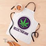 Vegetarian Circled Cannabis Leaf Apron