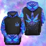 Cannabis Weed Leaf Hologram Holographic 3D All Over Printed Shirt, Sweatshirt, Hoodie, Bomber Jacket Size S - 5XL