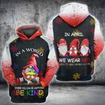 Autism Gnome In April We Wear Red 3D All Over Printed Shirt, Sweatshirt, Hoodie, Bomber Jacket Size S - 5XL
