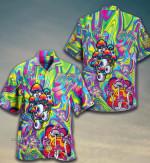 Psychedelic Art Magic Mushroom Trippy Hippie Hawaiian Shirt