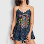 Psychedelic Mushroom, DMT, Weed Snake Rompers For Women