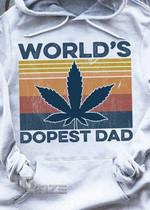 Weed World's Dopest Dad Vintage Graphic Unisex T Shirt, Sweatshirt, Hoodie Size S - 5XL