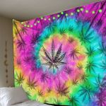 Weed Tiedye Color Tapestry