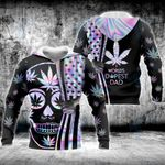 Weed World's Dopest Dad Hologram 3D All Over Printed Shirt, Sweatshirt, Hoodie, Bomber Jacket Size S - 5XL