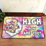 Weed High How Are You Doormat