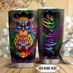 Custom LGBT Mandala Pattern LGBT Color Owl 20Oz, 30Oz Stainless Steel Tumbler