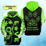 Weed world's dopest dog mom Custom name 3D All Over Printed Shirt, Sweatshirt, Hoodie, Bomber Jacket Size S - 5XL