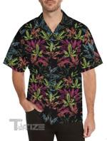 Weed Leaf Tropical Pattern Hawaiian Shirt