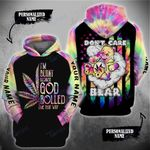 Weed Leaf Don't Care Bear God Roll Me That Way Custom 3D All Over Printed Shirt, Sweatshirt, Hoodie, Bomber Jacket Size S - 5XL