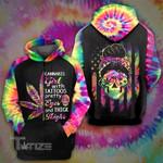 Weed Leaf Skull Tattoo Tiedye Flag 3D All Over Printed Shirt, Sweatshirt, Hoodie, Bomber Jacket Size S - 5XL