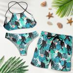 Bigfoot tropical hawaii pattern Combo Sexy Summer Bikini 2-piece Bikini and Hawaiian Short