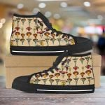 Mushroom psychedelic color pattern Unisex High Top Canvas Shoes